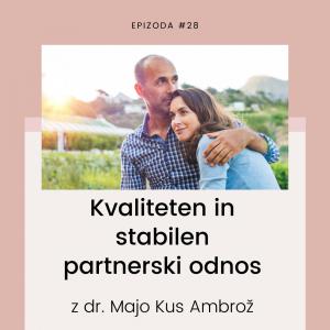Kvaliteten in stabilen partnerski odnos